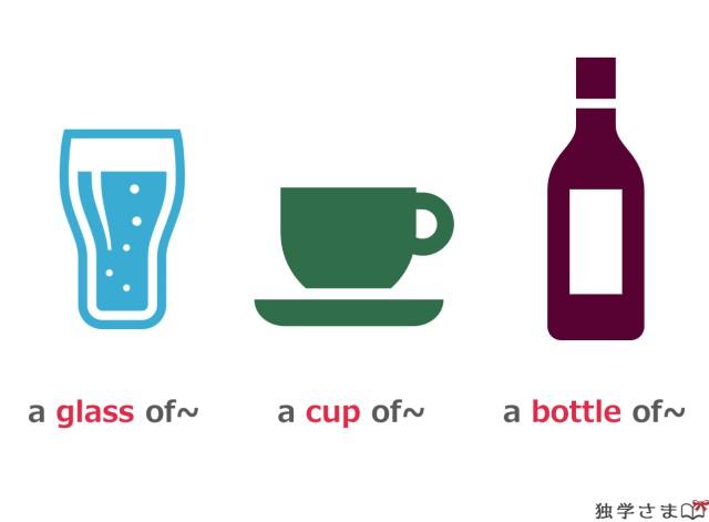 不可算名詞の飲み物の量を伝える