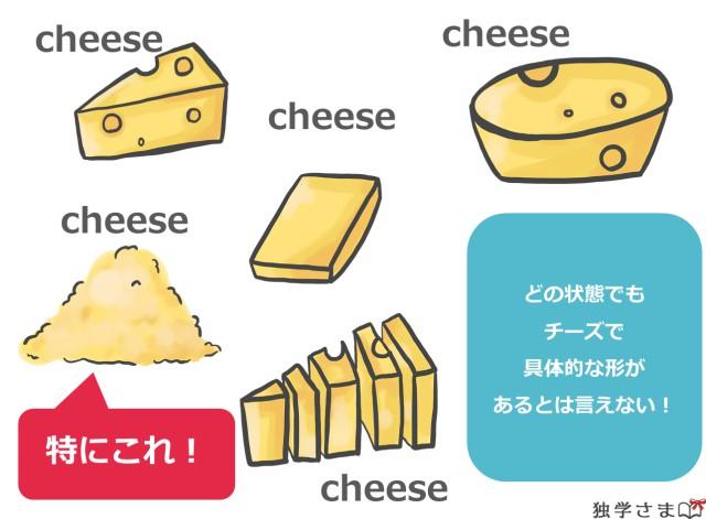 チーズは不可算名詞2
