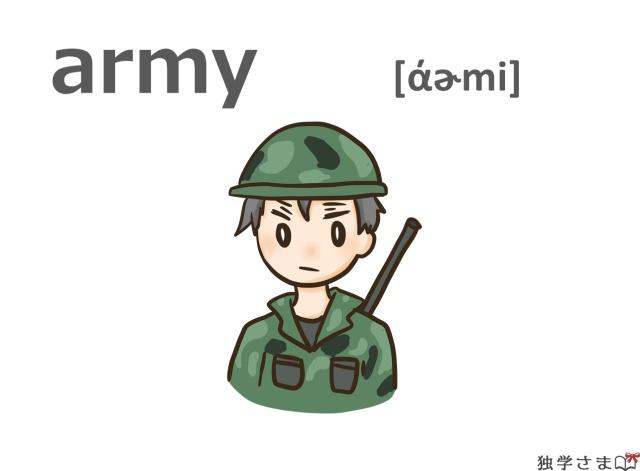 英単語『army』イラスト