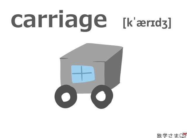 英単語『carriage』イラスト