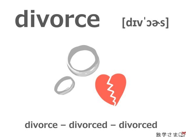 英単語『divorce』イラスト