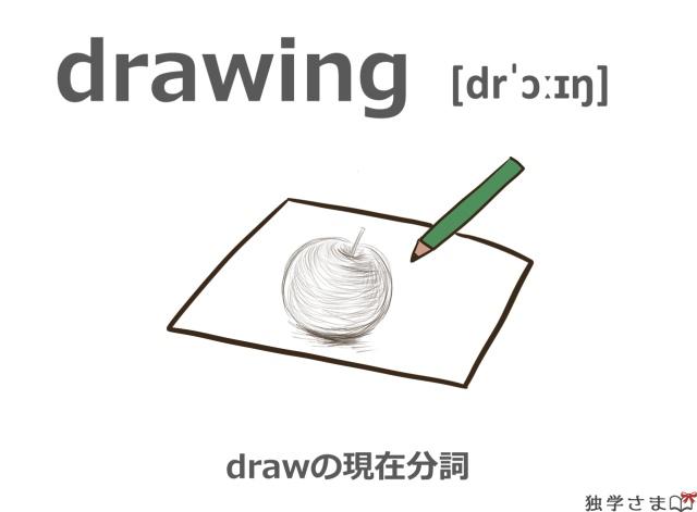 英単語『drawing』イラスト