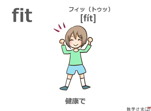 英単語『fit』イラスト・意味