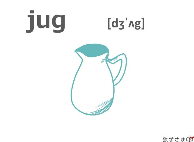 英単語『jug』イラスト
