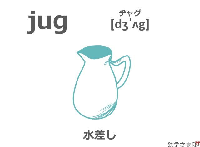 英単語『jug』イラスト・意味