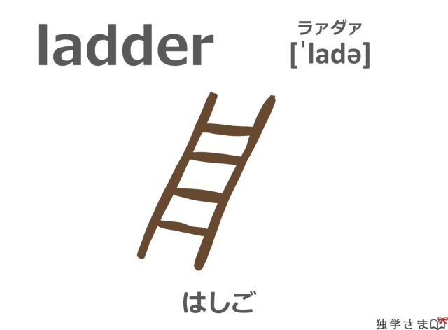 英単語『ladder』イラスト・意味