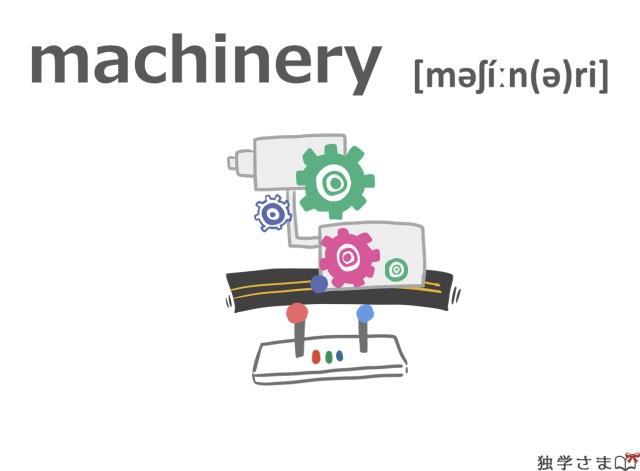 英単語『machinery』イラスト