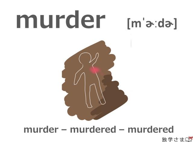 英単語『murder』イラスト