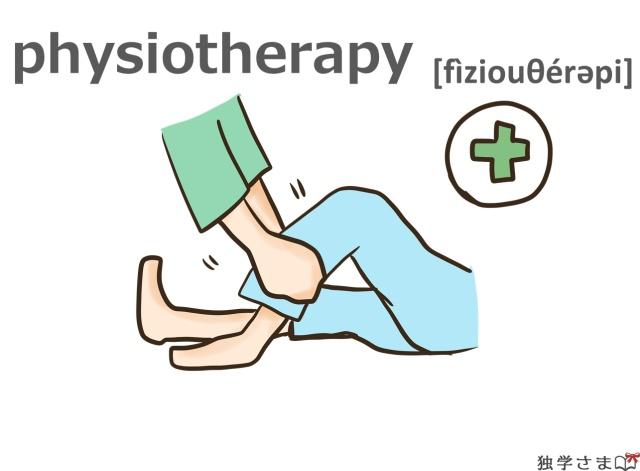 英単語『physiotherapy』イラスト