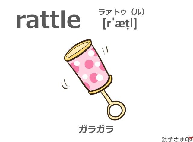 英単語『rattle』イラスト・意味