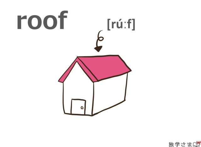 英単語『roof』イラスト