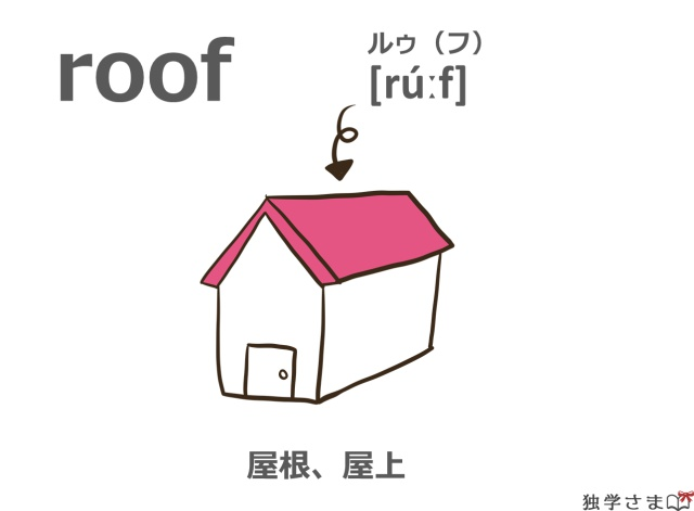 英単語『roof』イラスト・意味