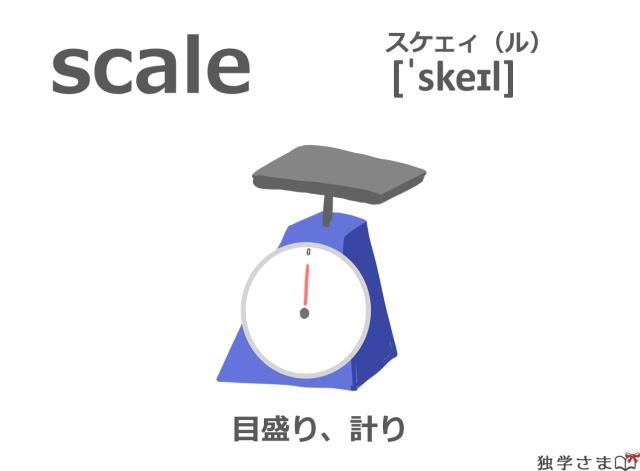 英単語『scale』イラスト・意味