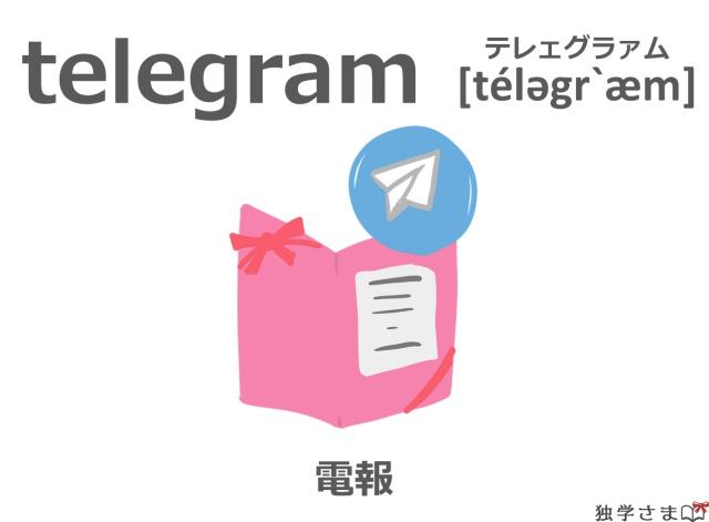 英単語『telegram』イラスト・意味