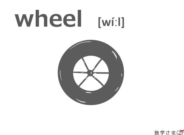 英単語『wheel』イラスト