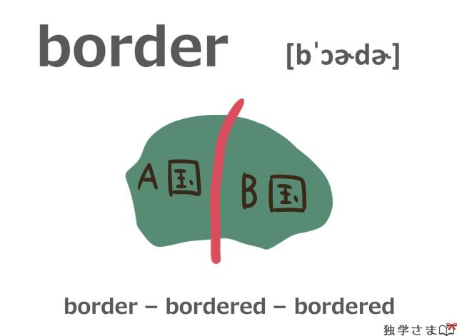 英単語『border』イラスト