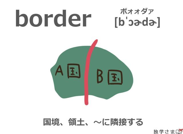 英単語『border』イラスト・意味
