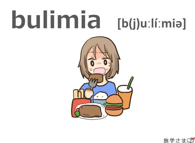 英単語『bulimia』イラスト