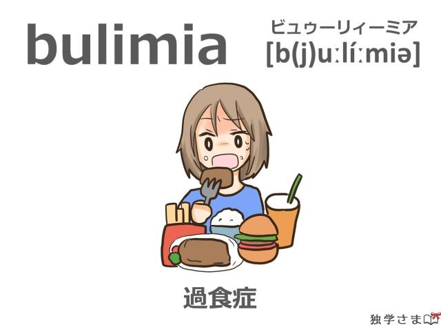 英単語『bulimia』イラスト・意味