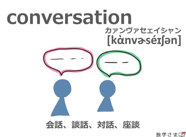 英単語『conversation』イラスト・意味