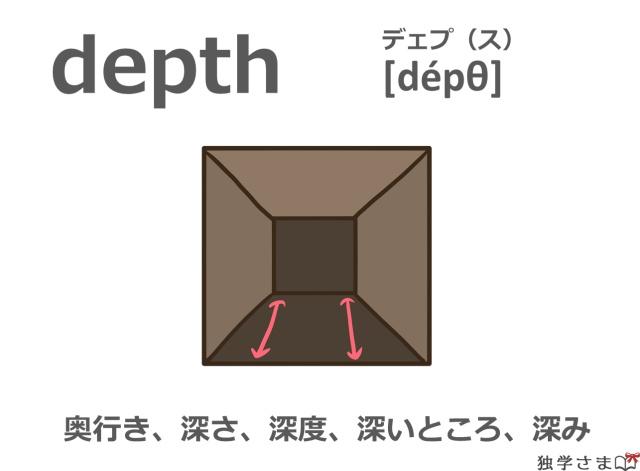 英単語『depth』イラスト・意味