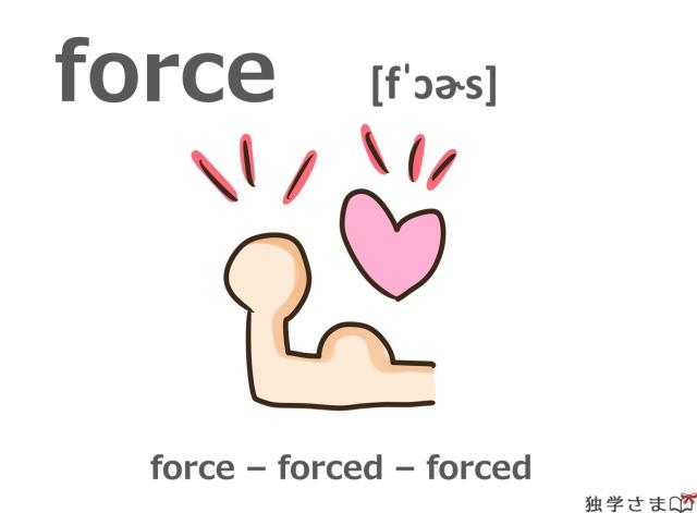英単語『force』イラスト