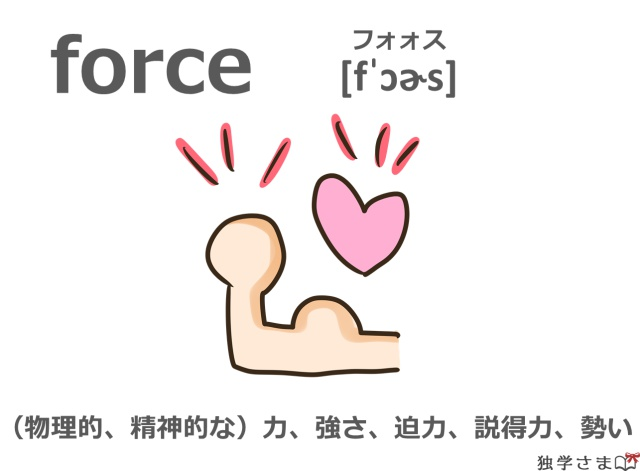 英単語『force』イラスト・意味