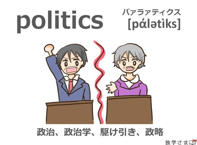 英単語『politics』イラスト・意味