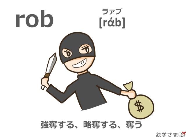 英単語『rob』イラスト・意味