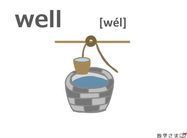 英単語『well』イラスト