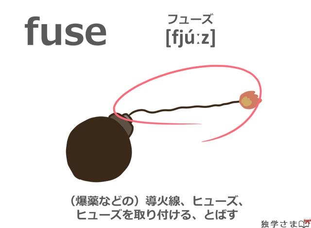 英単語『fuse』イラスト・意味・カタカナ