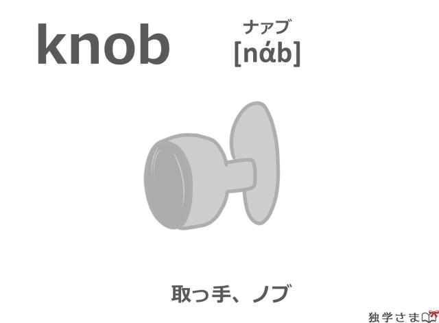 英単語『knob』イラスト・意味・カタカナ