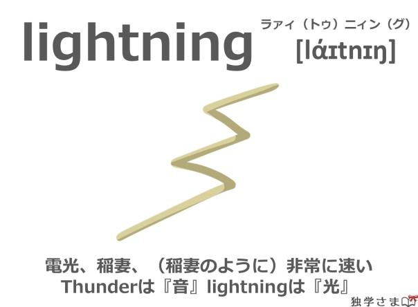英単語『lightning』イラスト・意味・カタカナ