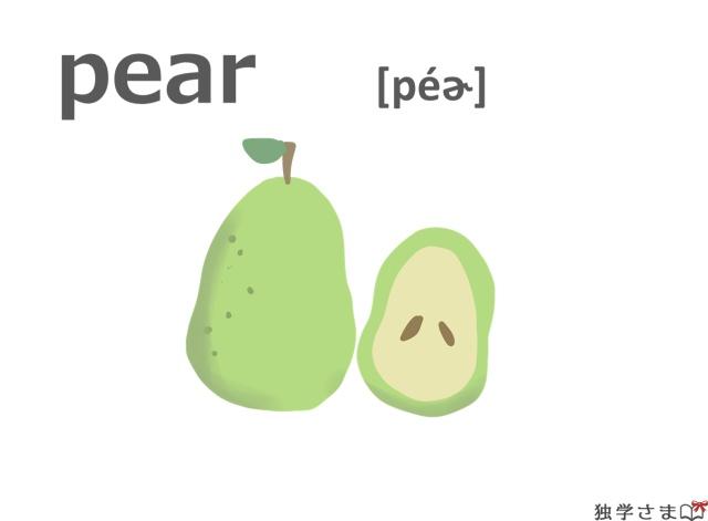 英単語『pear』イラスト