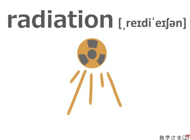 英単語『radiation』イラスト