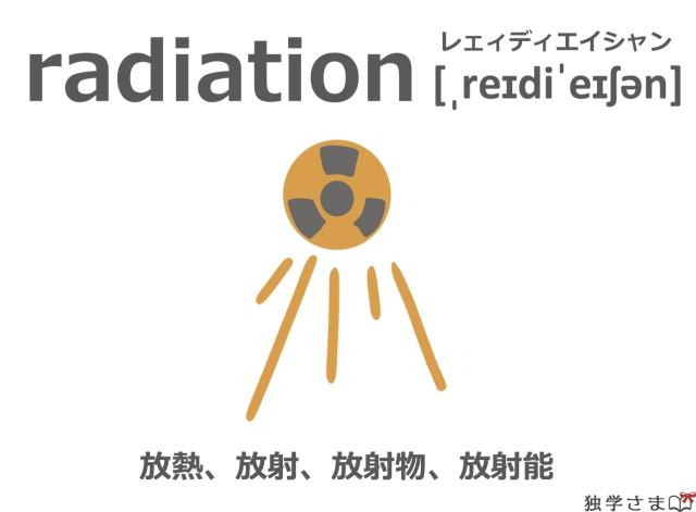 英単語『radiation』イラスト・意味・カタカナ