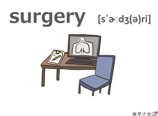 英単語『surgery』イラスト