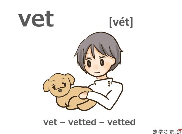 英単語『vet』イラスト