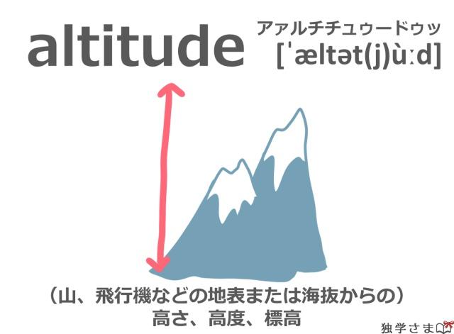 英単語『altitude』イラスト・意味・カタカナ