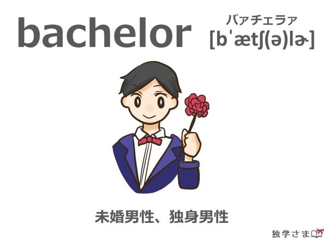 英単語『bachelor』イラスト・意味・カタカナ