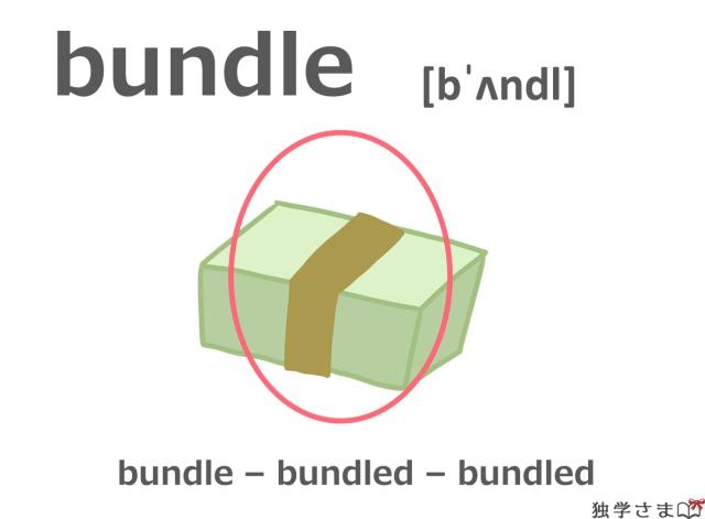 英単語『bundle』イラスト