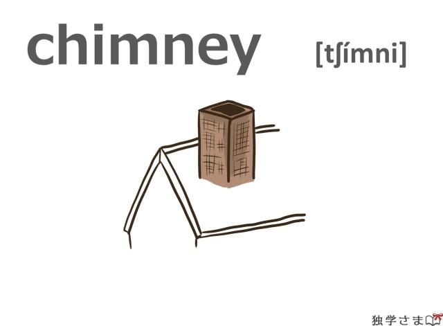 英単語『chimney』イラスト
