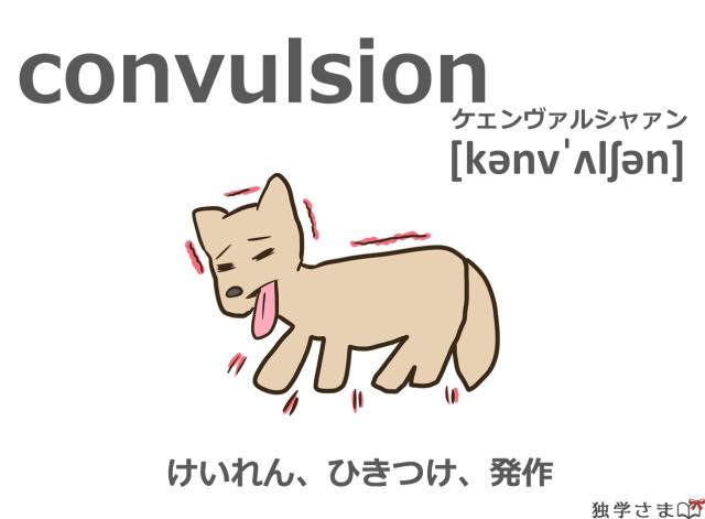 英単語『convulsion』イラスト・意味・カタカナ