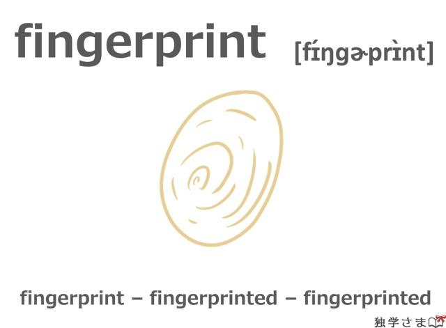 英単語『fingerprint』イラスト