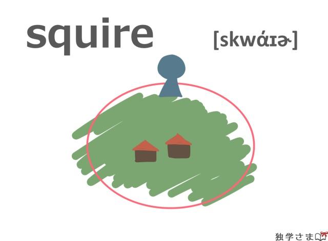英単語『squire』イラスト