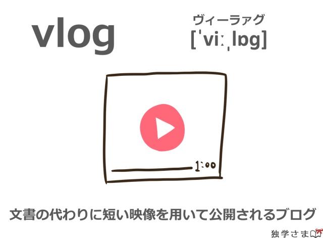 英単語『vlog』イラスト・意味・カタカナ