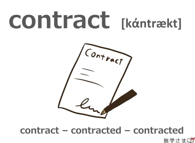 英単語『contract』イラスト