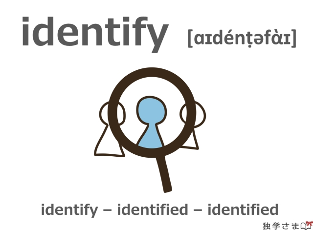 英単語『identify』イラスト