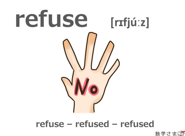 英単語『refuse』イラスト