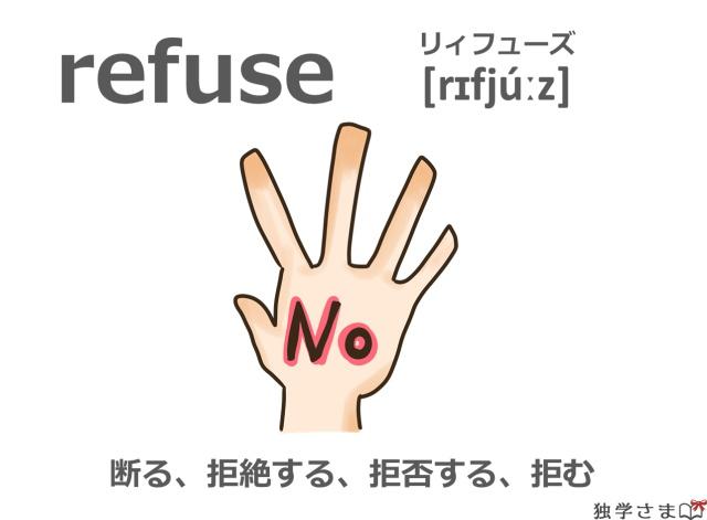 英単語『refuse』イラスト・意味・カタカナ